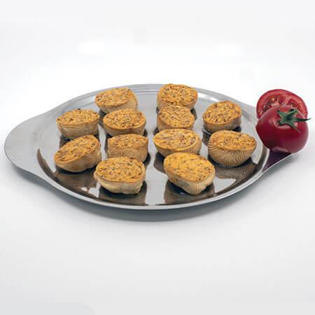 Assiette de Croquilles à la tomate, herbes, basilic